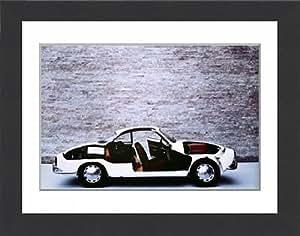 """De Cars Affiche encadrée """"Volkswagen Karmann Ghia Cabriolet - 1500 1960s"""
