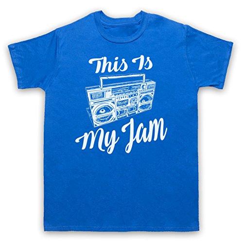 This Is My Jam Music Slogan Herren T-Shirt Blau