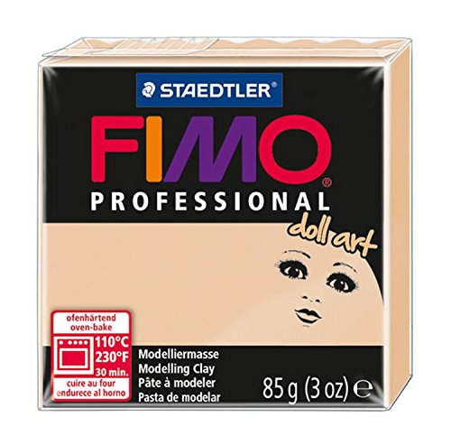Staedtler 8027-45 - - Fimo Professional Doll Art Normalblock, 85 g, sand -