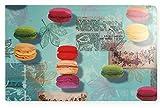 Platzset Macarons Kunststoff abwaschbar bunte modern Tischsets 28x44 cm blau