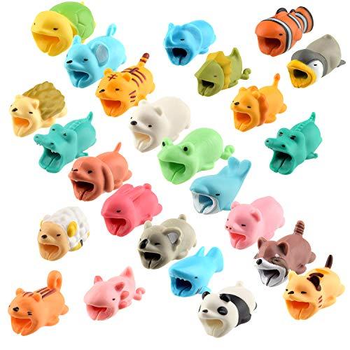 TUPARKA 25 PCS Protector de Cable Cute Animals