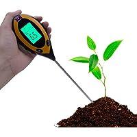 RCYAGO 4 en 1 l'humidité du sol mètre sol le pH du sol température et lumière intensité testeur pour jardinage agriculture intérieure extérieure