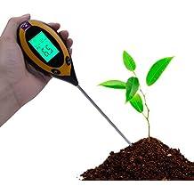 RCYAGO 4 En 1 Medidor de Humedad de la Tierra del suelo PH suelo probador de temperatura y de la intensidad de la luz del sol para jardinería cultivo interior y exterior