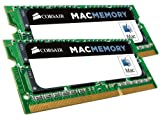 Corsair CMSA16GX3M2A1600C11 Apple Mac 16GB (2x8GB) DDR3 1600Mhz CL11 Apple Zertifizifiert SO-DIMM...