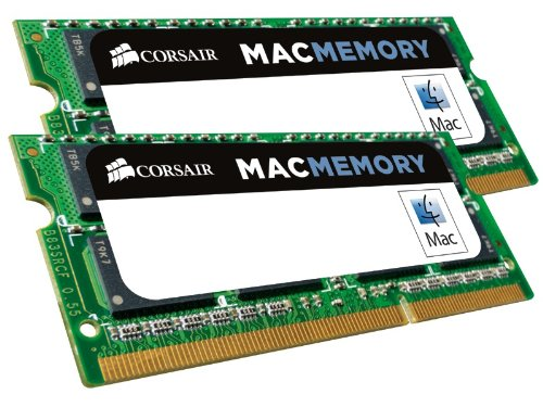 Corsair CMSA16GX3M2A1600C11 Apple Mac 16GB (2x8GB) DDR3 1600Mhz CL11 Apple Zertifizifiert SO-DIMM Kit (Macbook Ram-speicher)