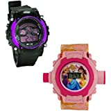 Shanti Enterprises Combo Princess 24 Images Projector Watch And Sports Watch Multi Color Dial For Kids - B07573424Z