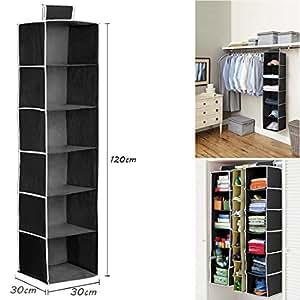 jjonlinestore kleiderschrank h ngend pullovern schuhe organizer 6 b den schwarz. Black Bedroom Furniture Sets. Home Design Ideas