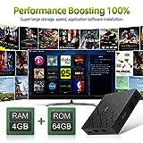 Android 8.1TV Box, LIVEBOX Android Box 4GB RAM/64GB ROM RK3328 Quad-Core Media Box Soporte Dual-WiFi 2.4GHz/5GHz 64 bits H.265 Bluetooth 4.0 DLNA UHD 4K Mini TV Box