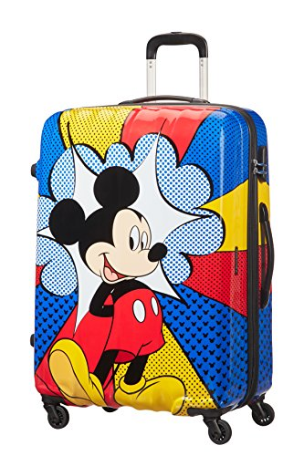 disney Legends Spinner 75/28 Alfatwist Koffer, 75 cm, 88 L, Mickey Flash Pop