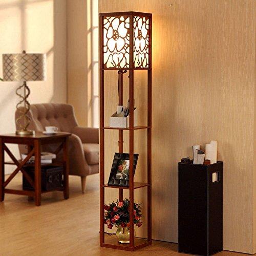 LightSei- Klassische chinesische Art Wohnzimmer Schlafzimmer Arbeitszimmer Raum Led Ausgehöhlte Schnitzen E27 führte Holz Stehlampe 26 * 26 * 160cm (Chinesische Stehlampe)
