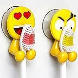 TAOtTAO 2PCS Cute Expression Sucker Zahnbürstenhalter Badezimmer Cartoon Zahnbürste Rack