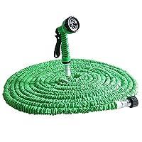 Amody 7 Modes Expandable Garden Water Hose Pipe with Spray Gun Green