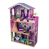 KidKraft 65082 My Dream Mansion Wooden Dolls House with Furniture and Accessories Included, 3 Storey Play Set for 30 cm/12 Inch Dolls
