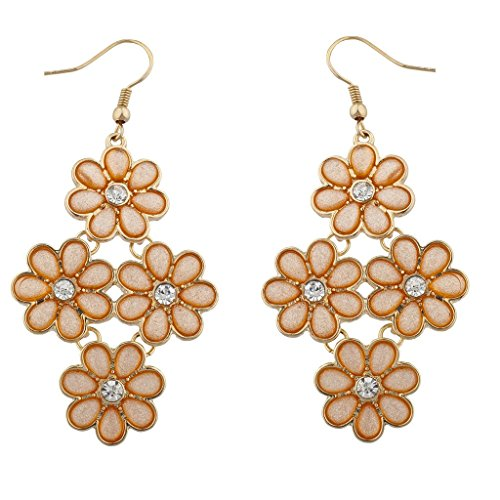 lux-accessories-peach-and-goldtone-acrylic-flower-chandelier-drop-earrings