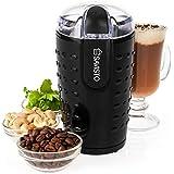 Savisto Elektrische Kaffeemühle, [Starke 150 Watt] Kaffeebohnen, Nuß und Gewürz Mühle [Edelstahl Klingen] 70g Fassungsvermögen - Schwarz