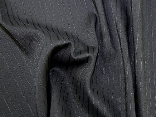 Selbst Streifen Stretch Shirting Kleid Stoff, Meterware, Schwarz Shirting Kleid