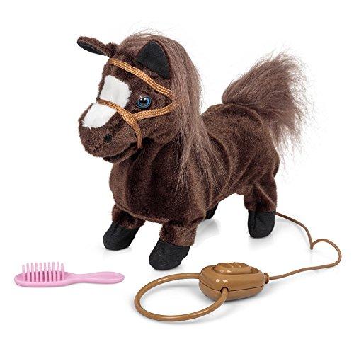 elektrisches pferd Elektronisches Pferd Pony, Das Galoppiert Und Wiehert (Mit Sound Und Bewegung, Ca 22 cm Lang) Braun