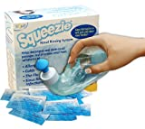 Squip NasaKleen Squeezie with Nasal Irrigation System/  Pack of 50 Saline Sachets