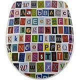 Diaqua de Nice Abattant WC Slow Motion, Letters, 40,5–46x 37,5cm, multicolore, 31171238
