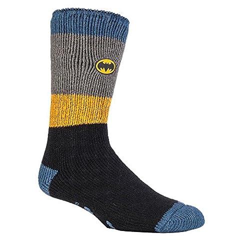 Heat Holders - Herren und Jungen Marvel thermische Anti Rutsch Socken Stoppersocken in 4 Designs (39-45 Eur, 6-11 UK, Batman / Offiziersbursche)