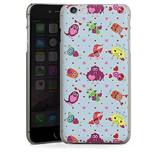 Apple iPhone X Silikon Hülle Case Schutzhülle Muster Monster Love Hard Case anthrazit-klar