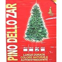 Pino dello Zar H.180 cm Albero di Natale Colore Naturale Lunga Durata Autoestinguente