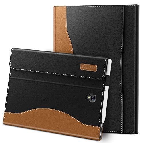 Infiland Galaxy Tab S4 10,5 Étui Housse, PU Cuir Etui en Cuir Végétale Fin De Haute Qualité Stand Coque Case Fermeture magnétique pour Samsung Galaxy Tab S4 10,5 Pouces, Noir