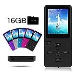Crillutar Digital Media Player 16GB MP3 / MP4 Player 1,8-Zoll-Display Music Player / Sprachaufnahme mit einer 16 GB Micro SD-Karte, Einschließlich Einer Unabhängigen Lock-Taste, Unterstützung von Photo Viewer und E-Book (Black)