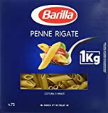 Barilla Pâtes Penne Rigate 1 kg - Lot de 5