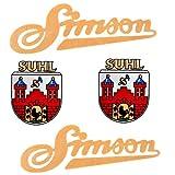Aufkleber Sticker Set Simson SUHL Wappen alte Ausführung - SR1 SR2 Mofa