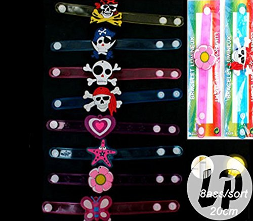 lote-conjunto-de-12-piezas-pulsera-led-patrones-de-mezcla-de-gel-de-luz