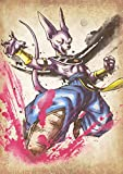"""Poster Dragon Ball """"Wanted"""" Beerus - A3 (42x30 cm)"""