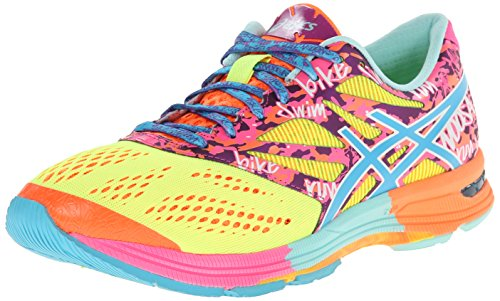 Asics Gel-Noosa Tri 10 GR Synthétique Chaussure de Course Flash Yellow-Turquoise-Flash Pink