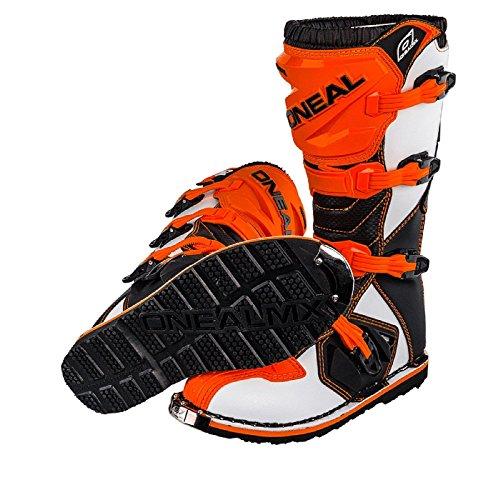 O'Neal Rider Boot MX Stiefel Orange Moto Cross Motorrad Enduro, 0329-3, Größe 45 - 4