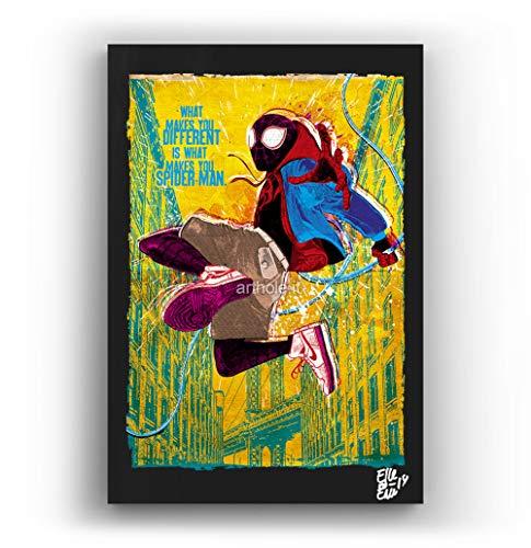 Miles Morales Spider-Man - Pintura Enmarcado Original
