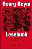 Georg Heym Lesebuch. Gedichte, Prosa, Tr?ume, Tageb?cher