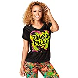 Zumba Fitness Damen Tribe Mesh Top Frauentops, Back to Black, S