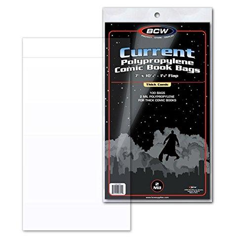 BCW 100 dicke Comic Schutzhüllen - Current Size (Speicher Display Case Box)