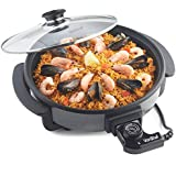 VonShef 1500W Medium 30cm Diameter Multi Cooker, 2 Year Free Warranty, Glass Lid, Non-Stick Surface and Cool Touch Handles