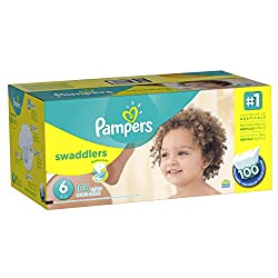 Pampers Swaddlers Diaper Size 6 Economy Pack Plus 100 Count