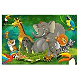 great-art Fototapete Kinderzimmer Dschungel Tiere Wandbild Dekoration Jungle Animales Zoo Natur Safari Adventure | Foto-Tapete Wandtapete Fotoposter Wanddeko by (336 x 238 cm)