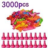 CT-Tribe 3000 Stück Wasserbomben Wasser Bomben Luftballons bunt Großverpackung in bunten Farben Wasserspielzeug Spielzeug für Kinder und Erwachsene