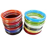 Newmakeinindia Multicolor Glass Pack Of 24 Bangle Set For Women