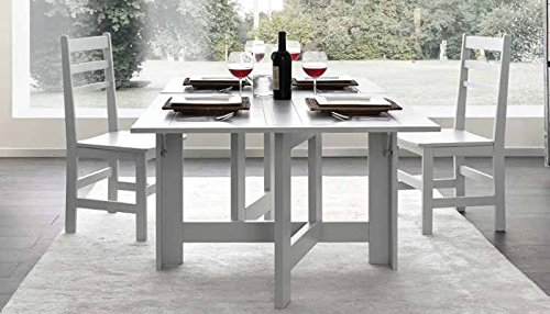 Table Console Pliante Bois Massif Design Moderne