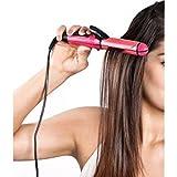 Nova 2-in-1 Ceramic Plate Combo of Hair Straightener Plus Curler (Pink, 1818-SC)