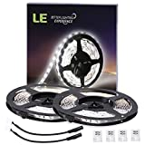 LE 2 Pack LED Flexible Strip Lights, 300 Units SMD 2835 LEDs, 5m 12V DC Non-waterproof Light Strips, LED ribbon, Garden/Home/Kitchen/Car/Bar, DIY TV Party Decoration Lighting , Daylight White