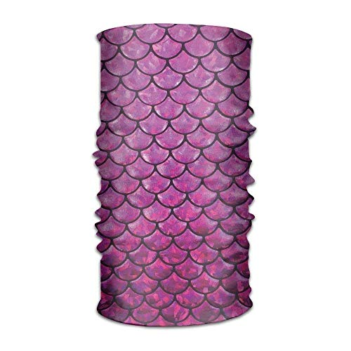 Jolly2T Unisex Mermaid's Tail Scales Pink Multifunctional Bandanas Sweatband Elastic Turban Headwear Headscarf Beanie Kerchief (Tail Mermaid Leggings)