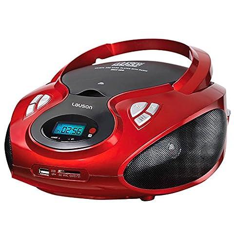 Lauson CP429 Radio CD/Mp3 Port USB Boombox Portable AM/FM SD-Card Lecteur CD