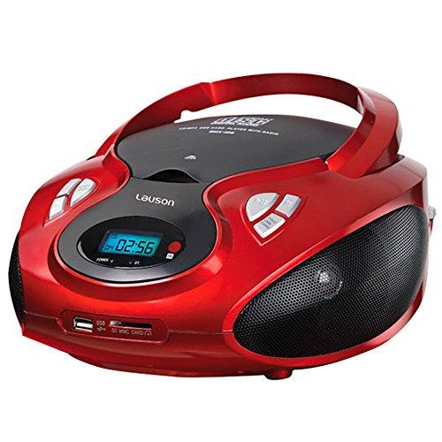 Lauson CP429 Tragbares Stereo CD/MP3-Player und Radio mit USB/SD-Karte-Wiedergabe