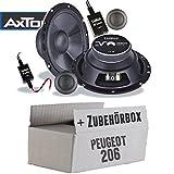 Peugeot 206 - Lautsprecher Boxen Axton AE652C | 16cm 2-Wege Auto Einbauzubehör - Einbauset